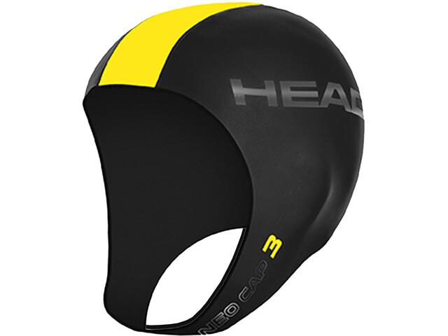 Head 3mm Swimcap black/yellow